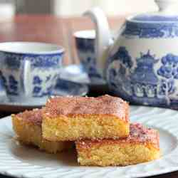 Almond, Polenta and Lemon Slice
