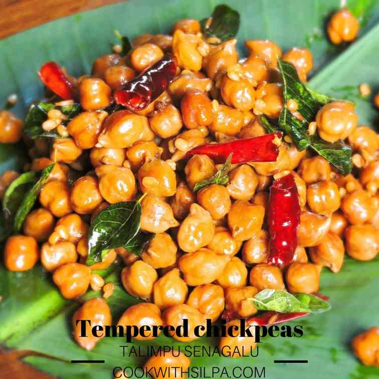 Tempered chickpeas - Talimpu senagalu