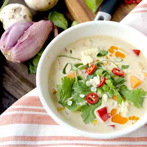 Thai Pumpkin Corn Soup