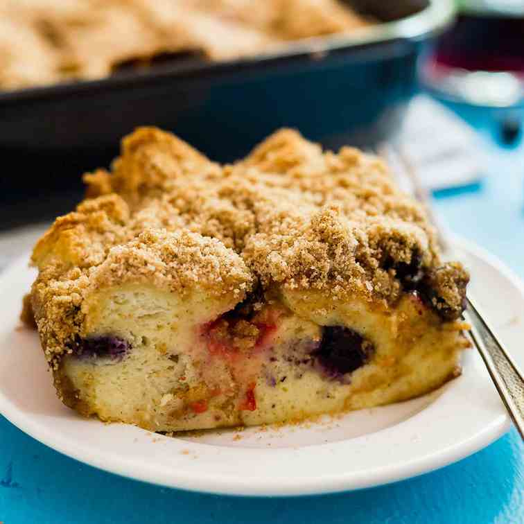 Baked French Toast with Mixed Berries