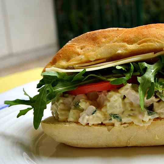 Chicken Salad with Fennel and Fresh Mint