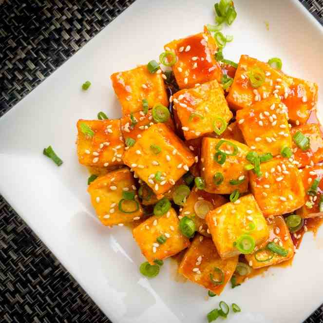 Korean Style Sweet and Spicy Tofu