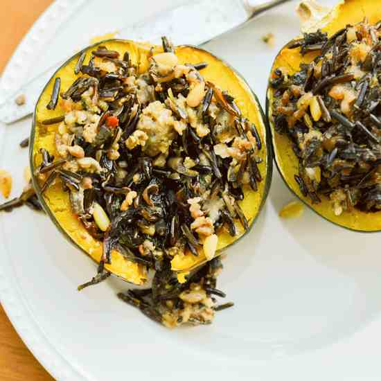 Stuffed and Baked Acorn Squash