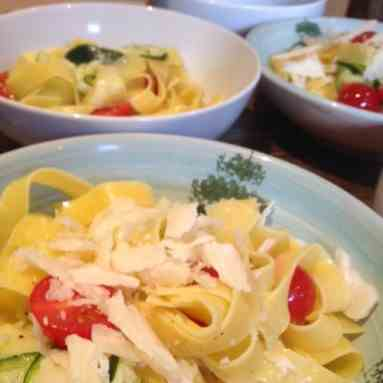 Fettuccine with Courgette Carpaccio