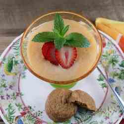 Melon Berry Soup with Ginger Cookies