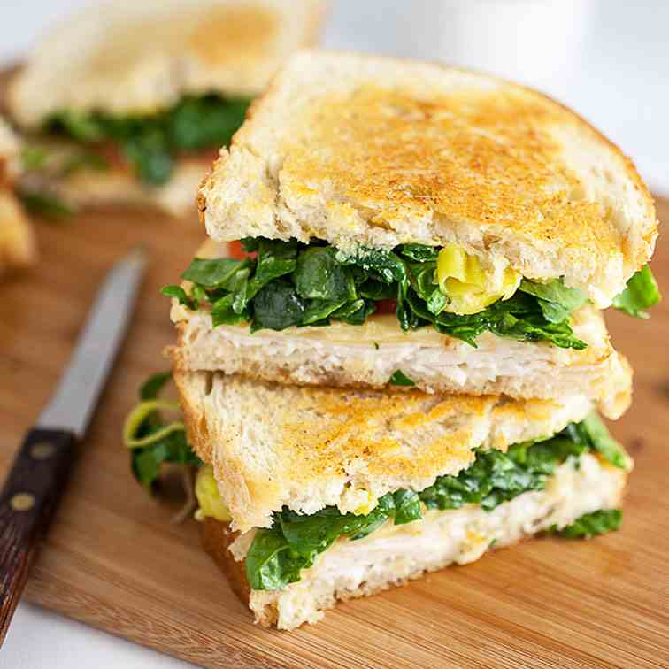 Dijon Chicken and Gouda Grilled Cheese