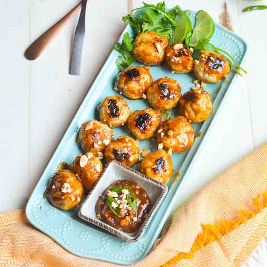 Chicken Satay Meatballs-