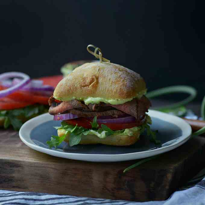 Ciabatta Steak Sandwiches
