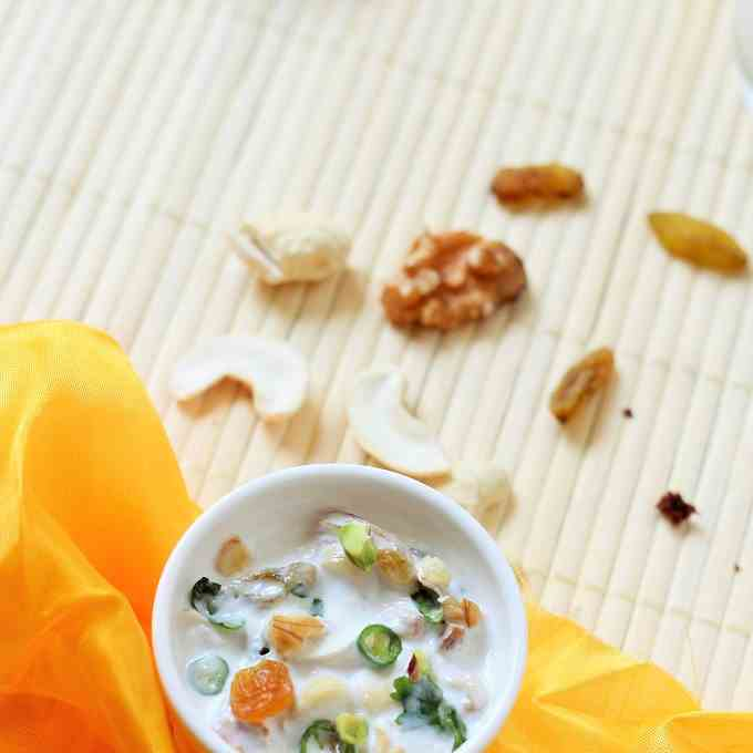 dry fruit raita