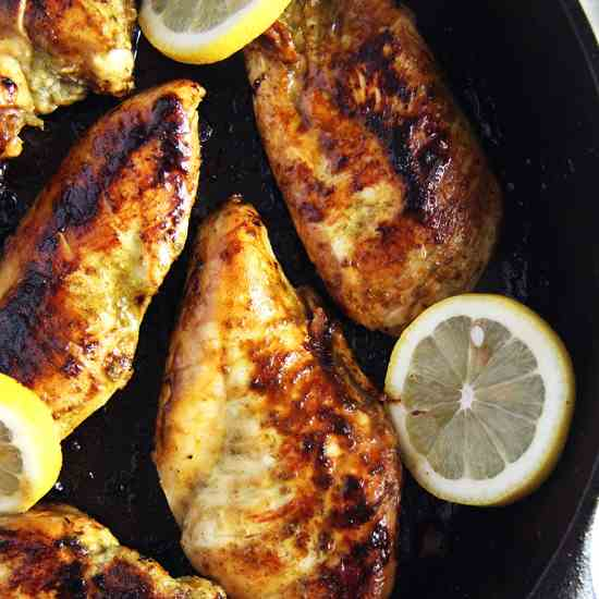 Basic Skillet Chicken Breasts