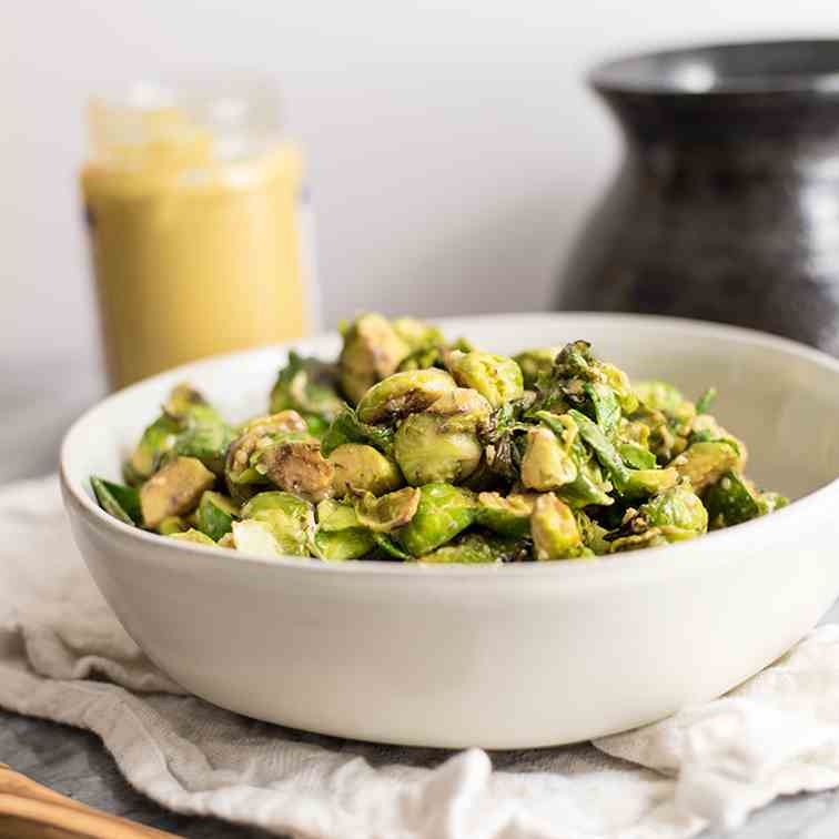 Paleo Brussels Sprouts and Creamy Dijon Sa
