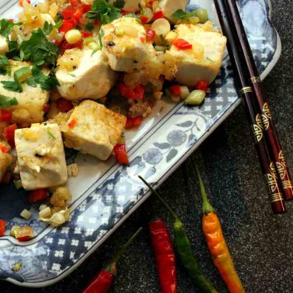 Chinese fried Tofu