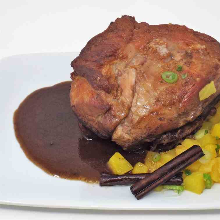 Caribbean Pork Roast with Gingered Pineapp