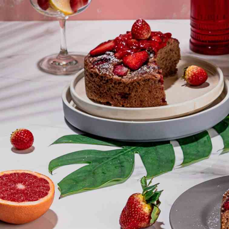 Gluten Free Eggless Strawberry Cake