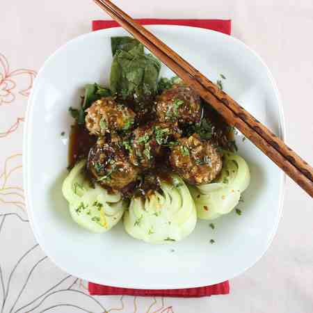 Pork-Jasmine Rice Meatballs