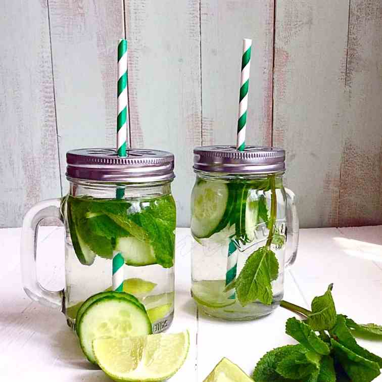 Cucumber Mint - Lime Detox Water