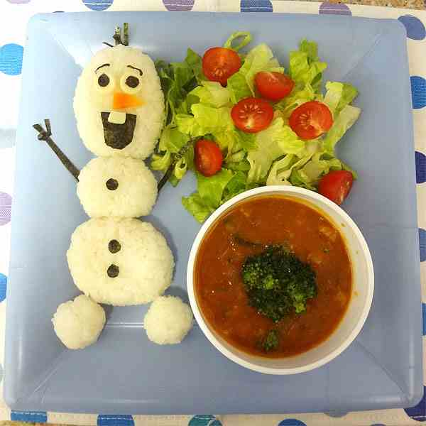 Disney frozen Olaf dinner