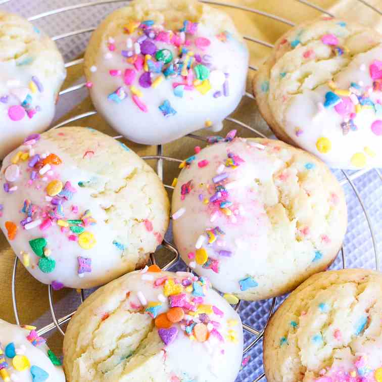 Spring Time Cake Mix Cookies