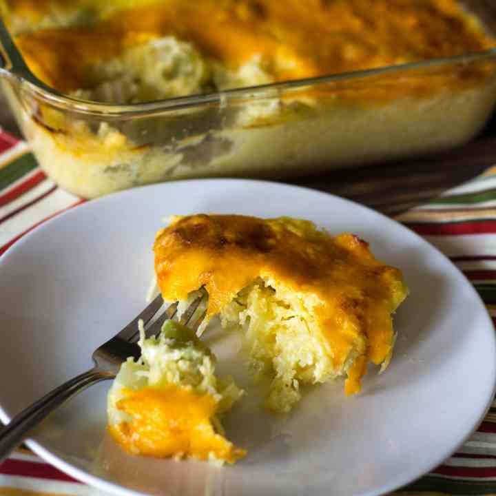 Cheesy Broccoli Squash Casserole
