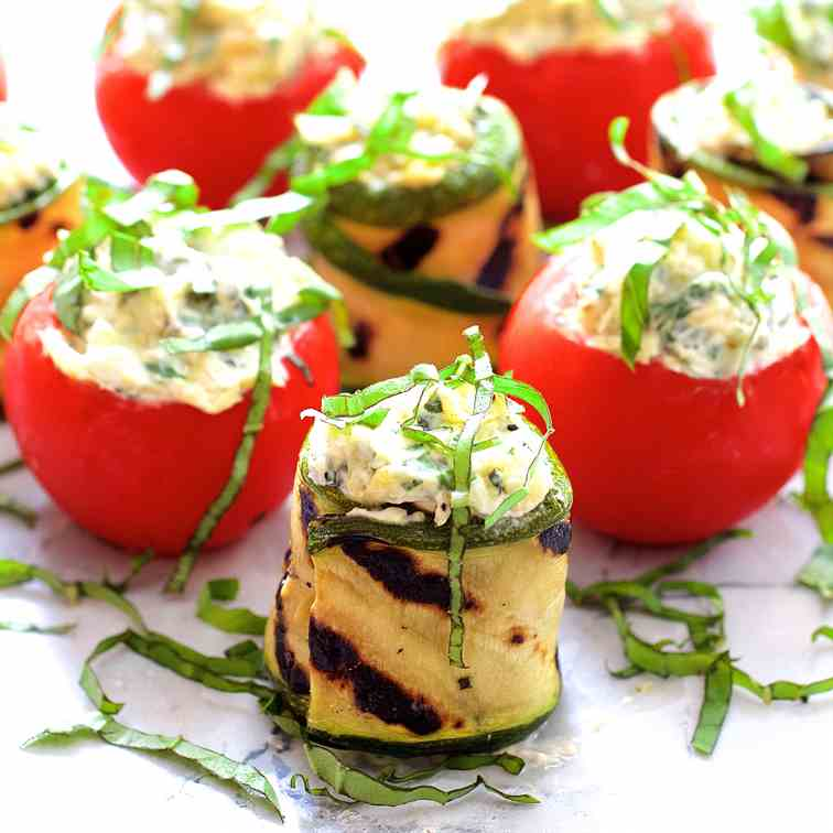 Cream Cheese Stuffed Tomatoes - Zucchini