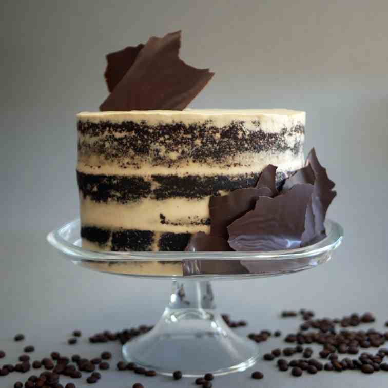 Chocolate Cake with Mascarpone and Coffee