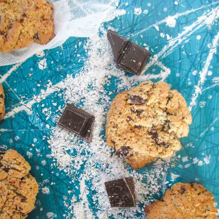 Coconut chocolate cookies
