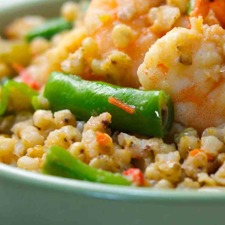 Cajun Style Shrimp and Green Bean Sorghum