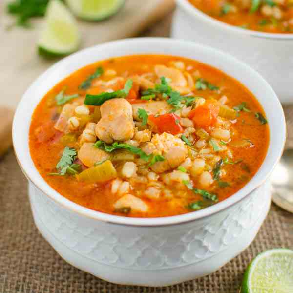 Healthy Barley And Chicken Soup
