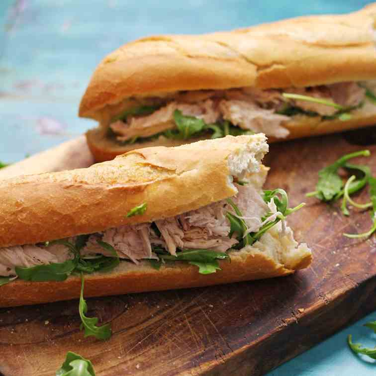 Lime - Mint Roast Chicken Sandwich