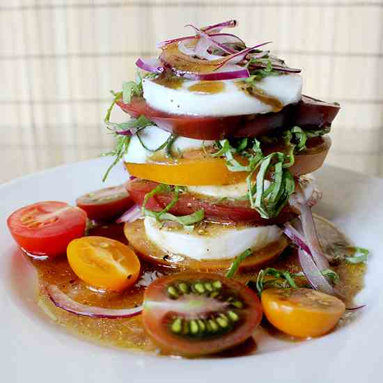 Tomato Mozzarella Tower Insalata Caprese