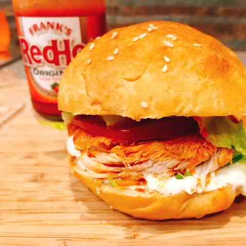 Buffalo Chicken Sandwiches - Ranch Dressin