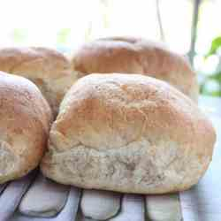 Fluffy White Vegan Dinner rolls