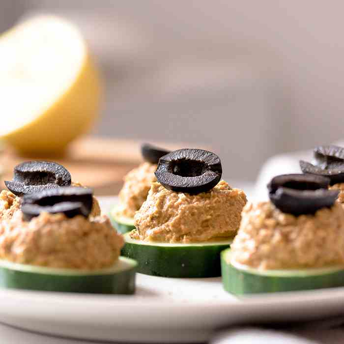 Cucumber Appetizers With Sardine Spread