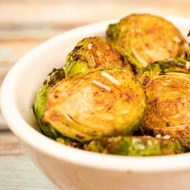 Balsamic Parmesan Roasted Brussel Sprouts