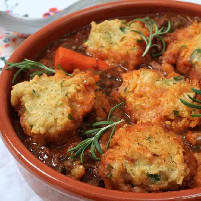 Beef Stew Scraps - Parsley Dumplings