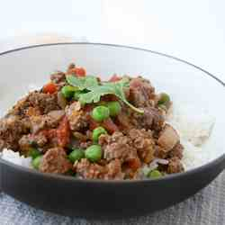 Indian Ground Beef with Peas