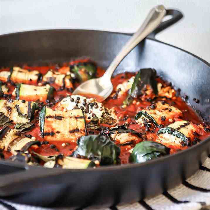 Grilled Zucchini Goat Cheese  Bake