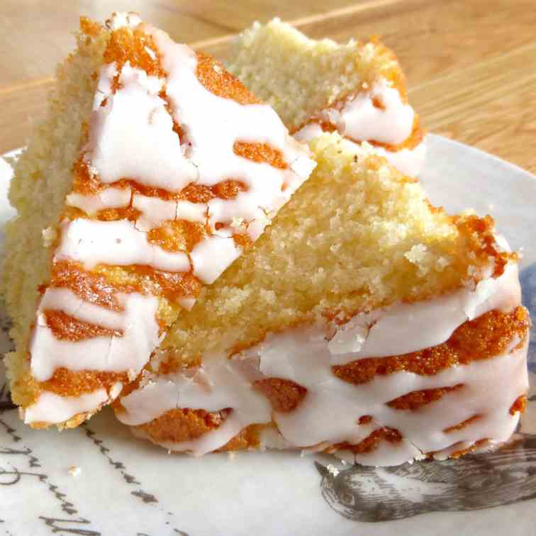 Lime Pound Cake with a Tangy Drizzle