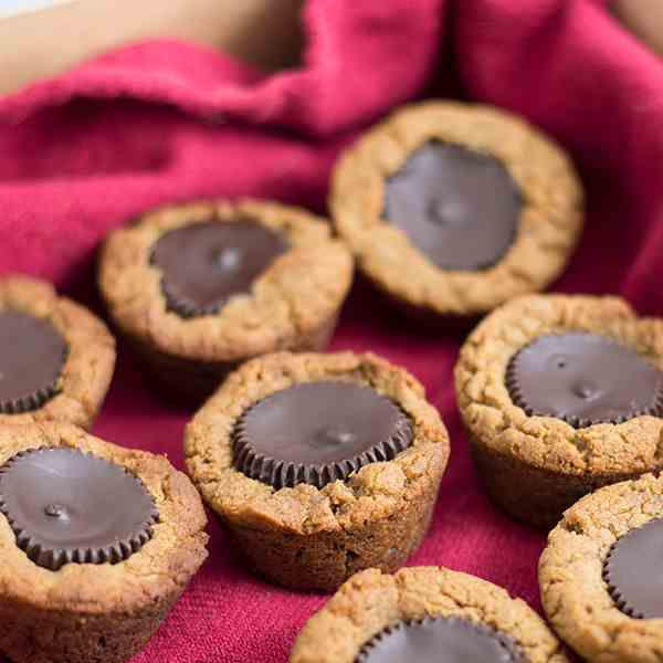 Dark Chocolate Peanut Butter Cup Cookies