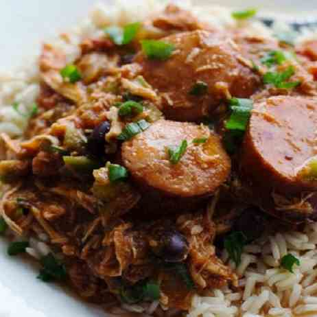 Slow Cooker Cerole Chicken and Sausage