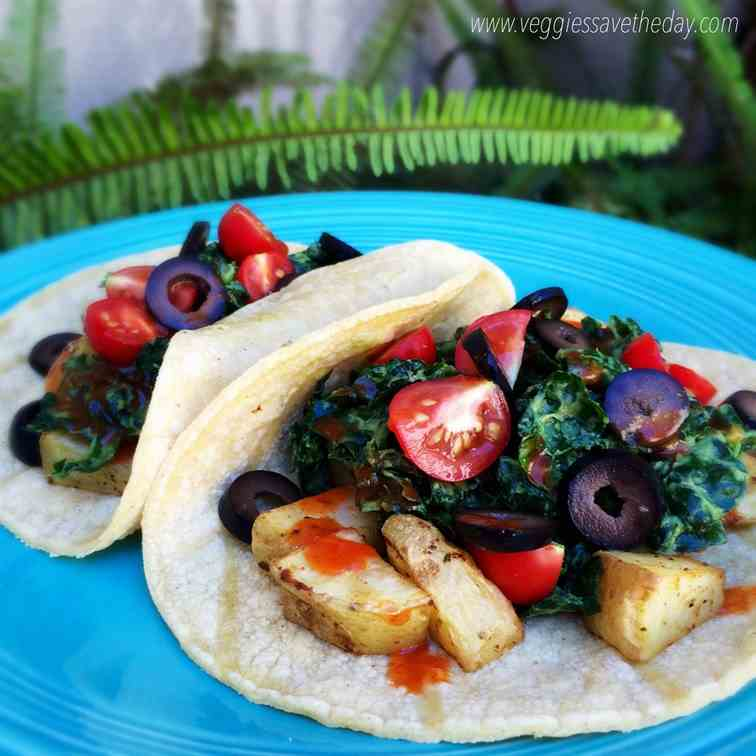 Potato and Kale Tacos