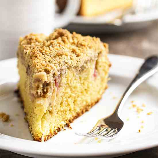 Rhubarb Coffee Cake with Crumb Topping