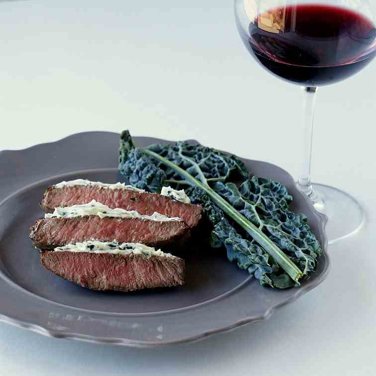 Sirloin Steak With Raw Kale Butter