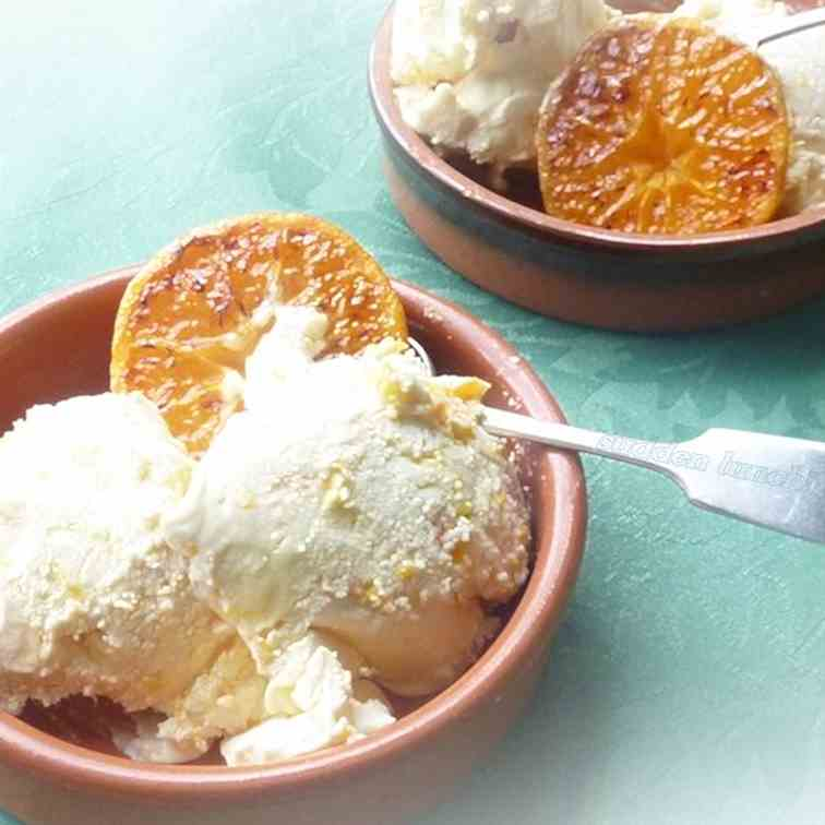 Caramelised Satsuma Ice Cream