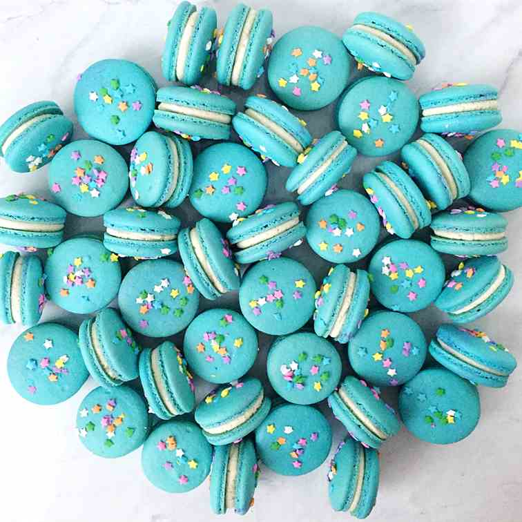 Birthday Cake Macarons