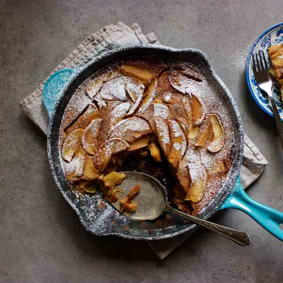 Chai Spiced Apple Clafoutis