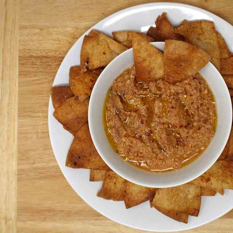 Muhammara (Syrian Red Pepper Walnut Dip)