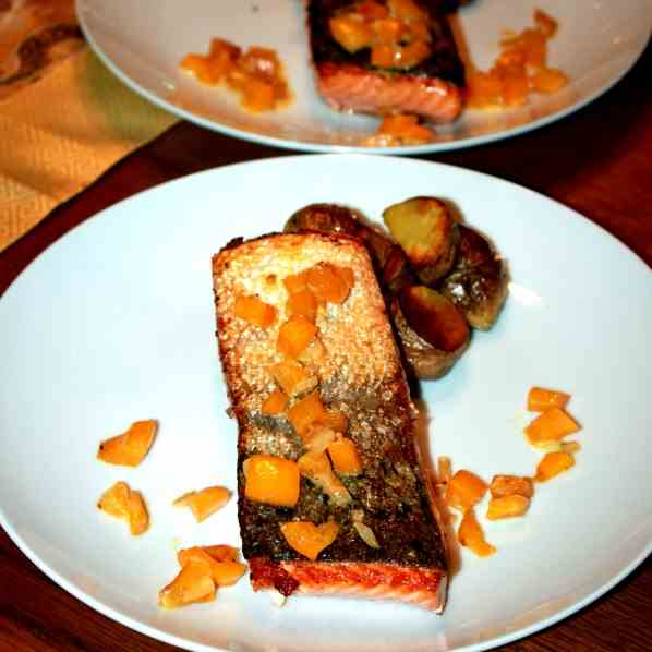 Salmon Fillet with crispy skin