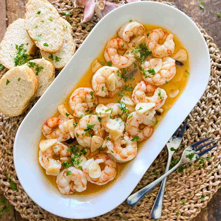 The Famous Spanish Garlic Shrimp