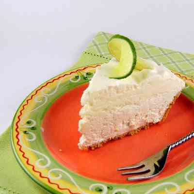 Frozen Key Lime and White Chocolate Pie